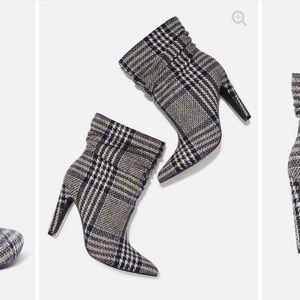 Lauren Bushnell Collab Plaid Slouch Boots